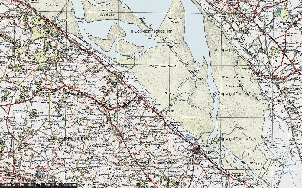 Old Map of Whelston, 1924 in 1924
