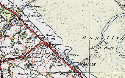 Old map of Whelston in 1924