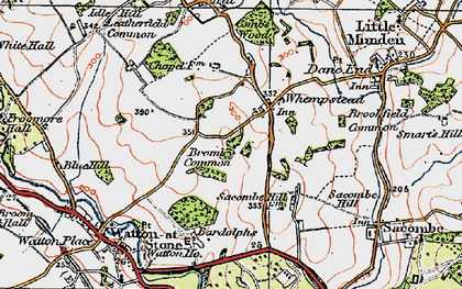 Old map of Bardolphs in 1919