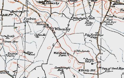 Old map of Whenby in 1924
