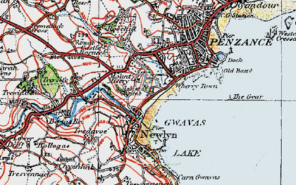 Old map of Wherry Town in 1919
