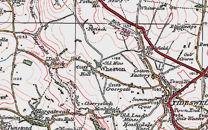 Old map of Tides Low in 1923