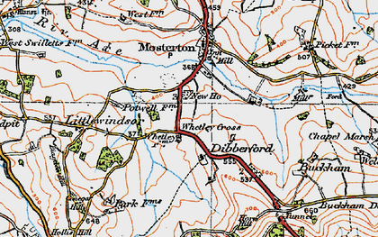 Old map of Baker's Mill in 1919