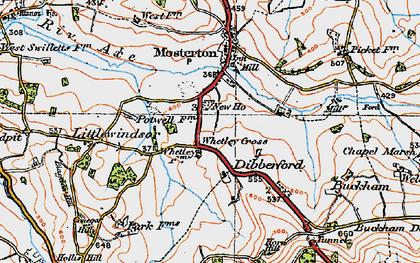 Old map of Whetley Cross in 1919