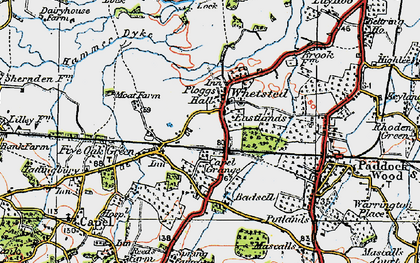 Old map of Whetsted in 1920