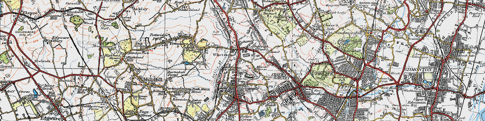Old map of Whetstone in 1920