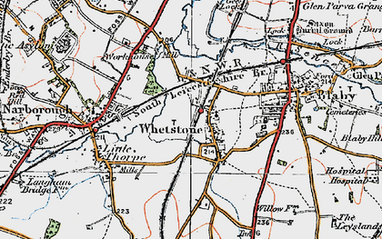 Old map of Whetstone in 1921