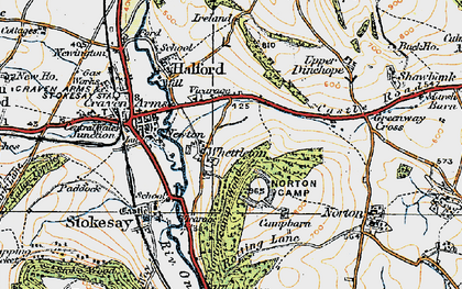 Old map of Whettleton in 1920