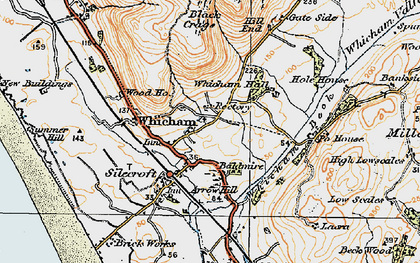 Old map of Whicham Hall in 1925