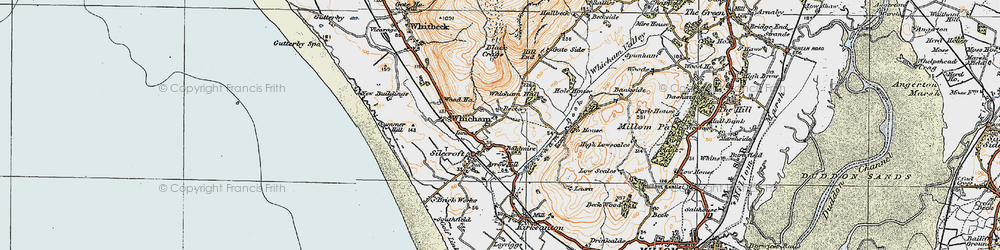 Old map of Whicham in 1925