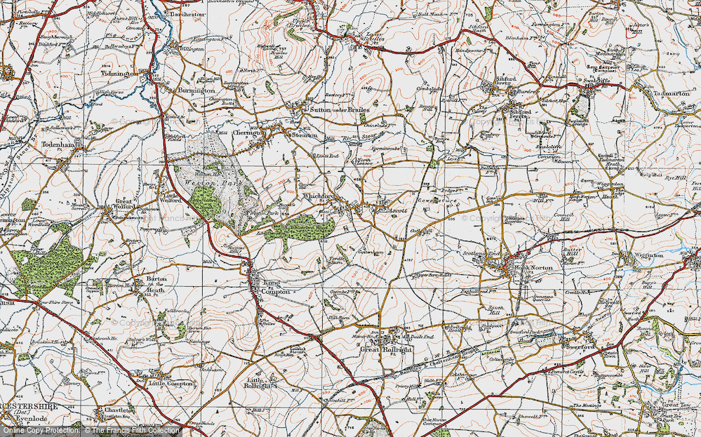 Old Map of Whichford, 1919 in 1919