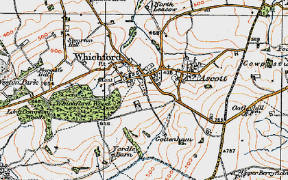 Old map of Whichford in 1919