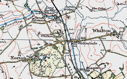 Old map of Whilton Locks in 1919