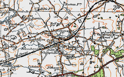 Old map of Whimple in 1919