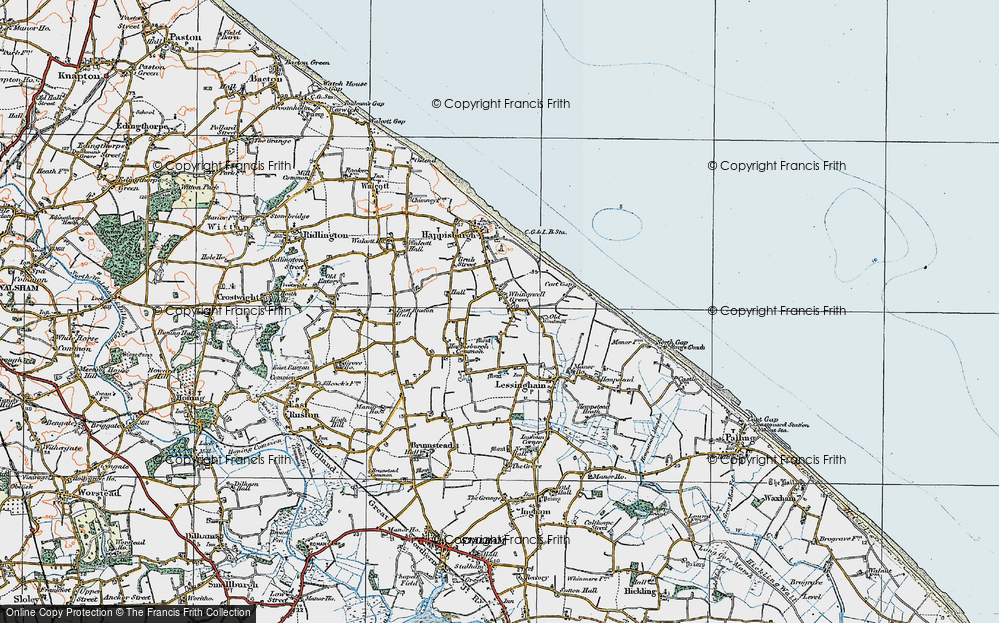Old Map of Whimpwell Green, 1922 in 1922
