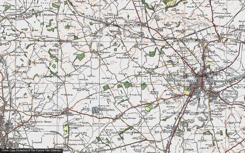 Old Map of Whinny Hill, 1925 in 1925