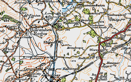 Old map of Whipcott in 1919