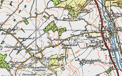Old map of Whippendell Bottom in 1920