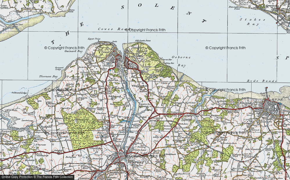 Old Map of Whippingham, 1919 in 1919