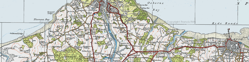 Old map of Whippingham in 1919