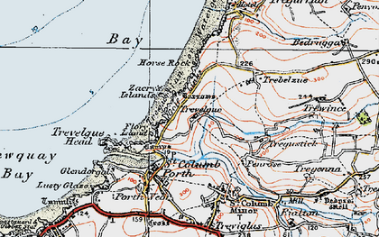 Old map of Whipsiderry in 1919
