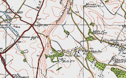 Old map of Whipsnade in 1920