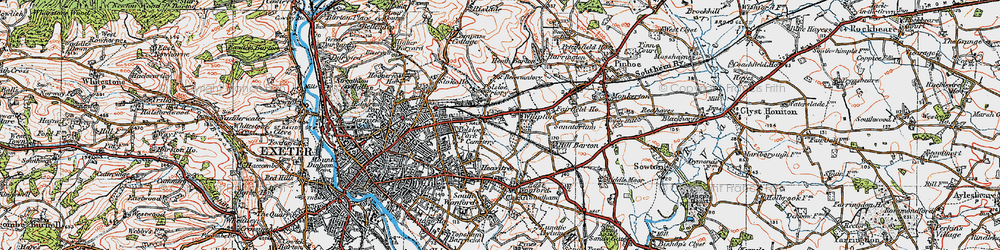 Old map of Whipton in 1919