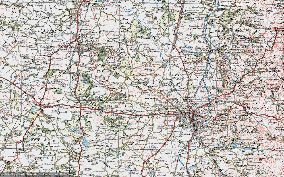 Old Map of Whirley Grove, 1923 in 1923