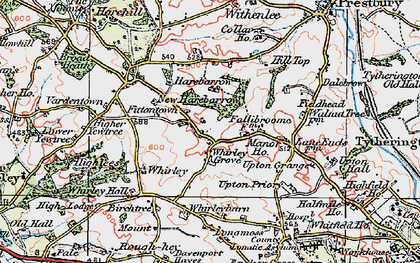 Old map of Whirley Grove in 1923