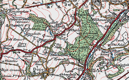 Old map of Whirlow in 1923