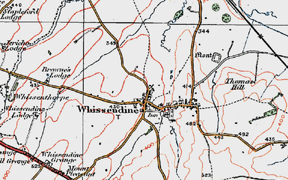 Old map of Whissendine in 1921