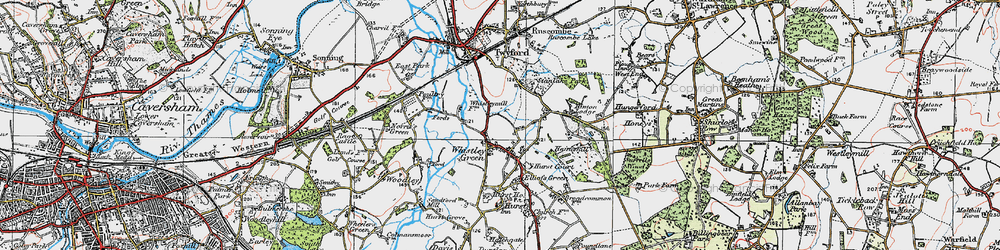 Old map of Whistley Green in 1919