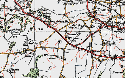 Old map of Whiston Hall in 1921