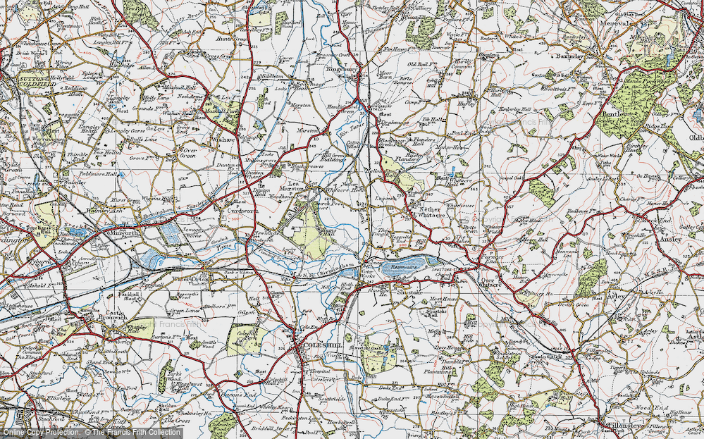 Old Map of Whitacre Heath, 1921 in 1921