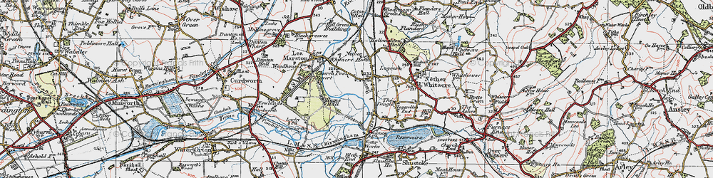 Old map of Whitacre Heath in 1921