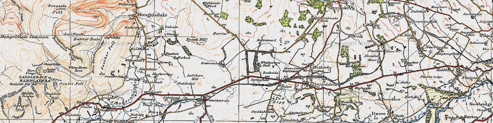 Old map of Whitbarrow Village in 1925