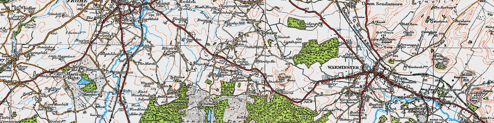 Old map of Whitbourne Moor in 1919