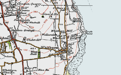 Old map of Whitburn in 1925