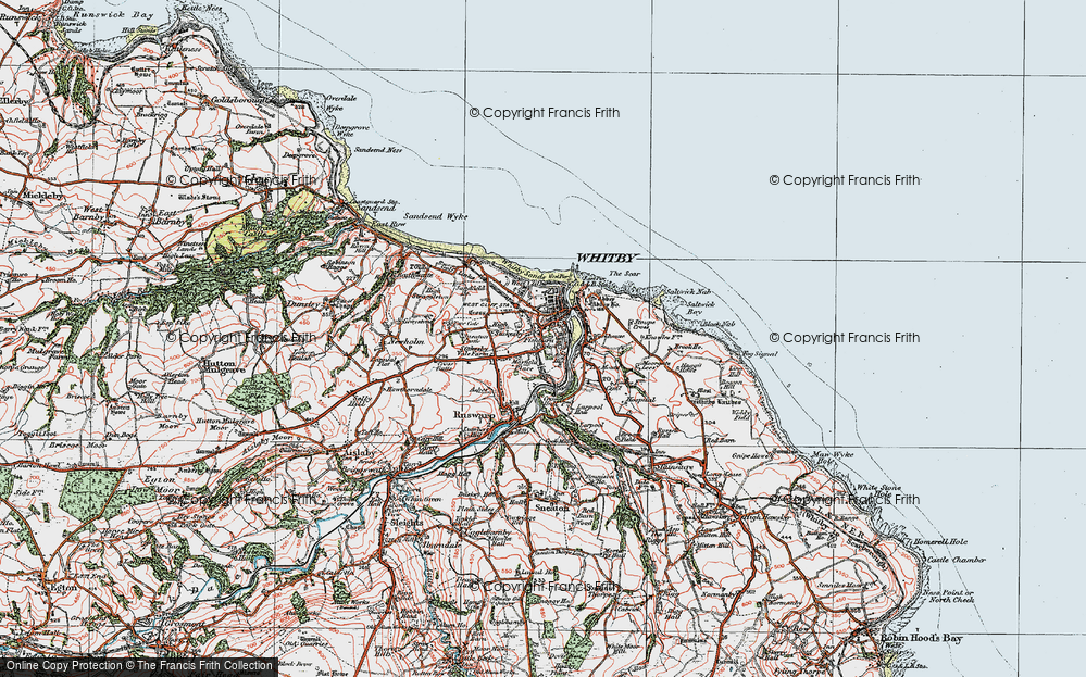 Old Map of Whitby, 1925 in 1925