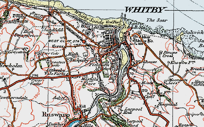 Old map of West Pier in 1925