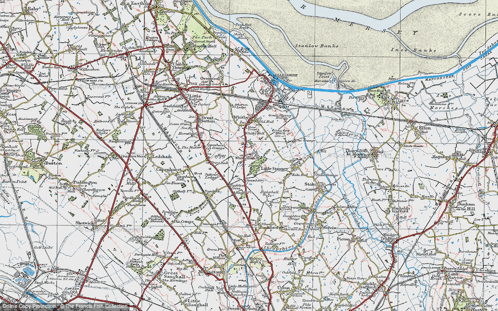 Old Map of Whitbyheath, 1924 in 1924