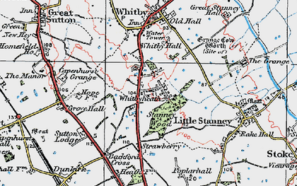 Old map of Whitbyheath in 1924