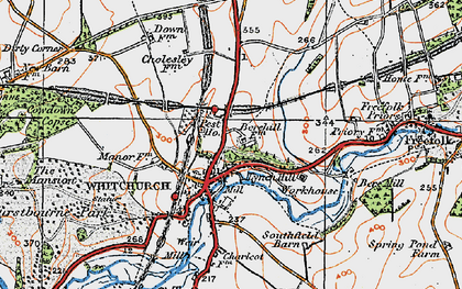 Old map of Whitchurch in 1919