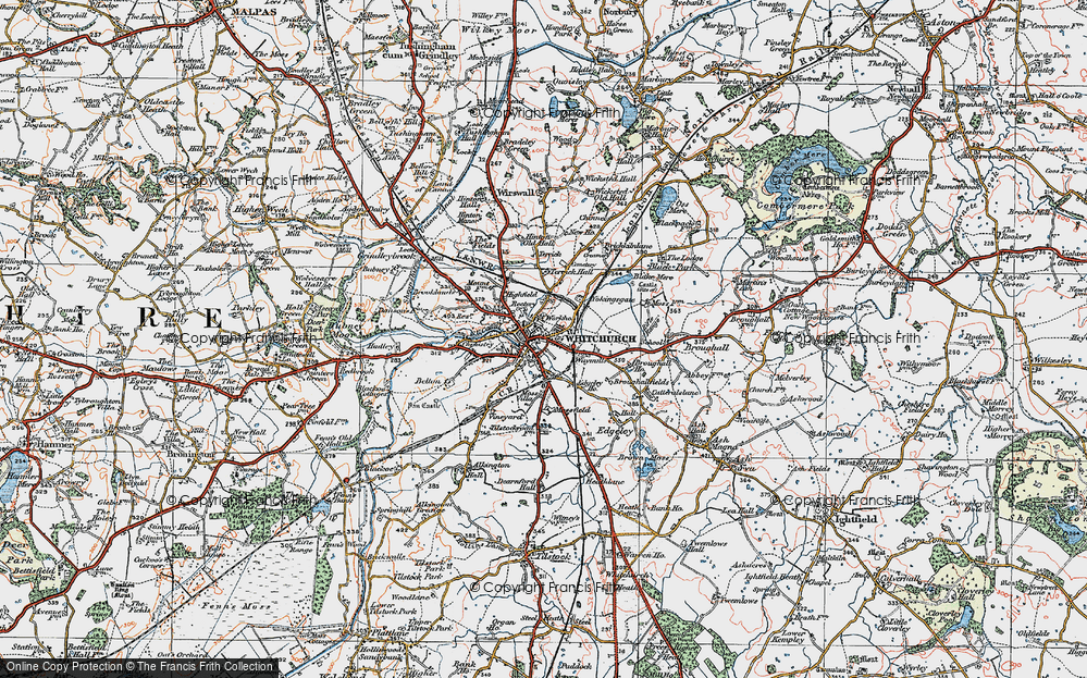 Old Map of Whitchurch, 1921 in 1921