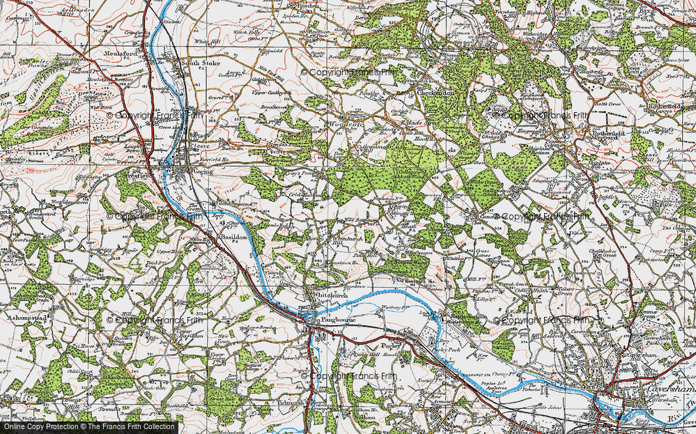 Old Map of Whitchurch Hill, 1919 in 1919