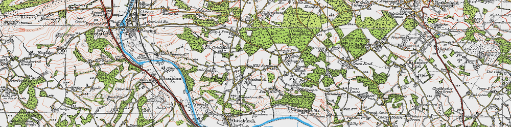Old map of Whitchurch Hill in 1919