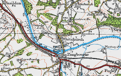 Old map of Whitchurch-on-Thames in 1919