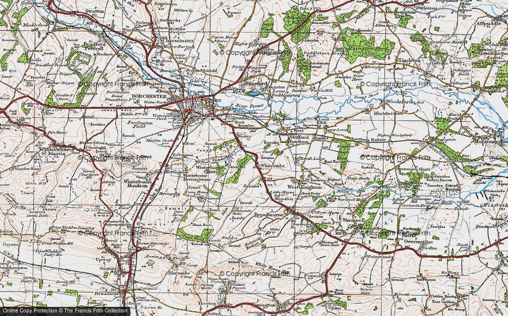 Old Map of Whitcombe, 1919 in 1919