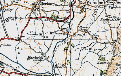 Old map of Whitcot in 1920