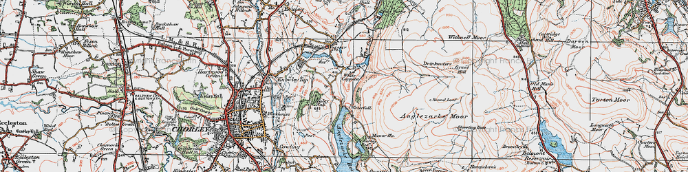 Old map of White Coppice in 1924